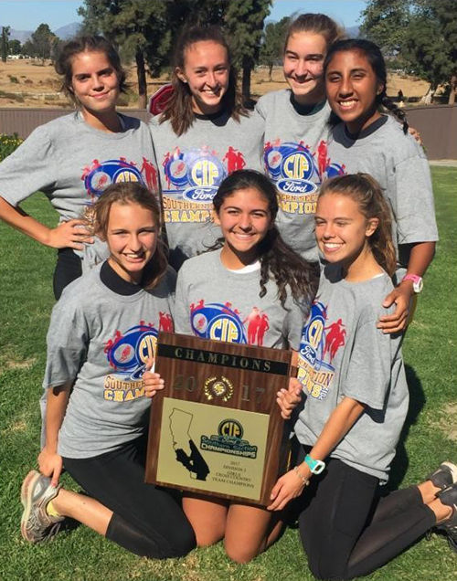 LHHS Girls Cross Country Team Wins CIF-SS Division 3 Title