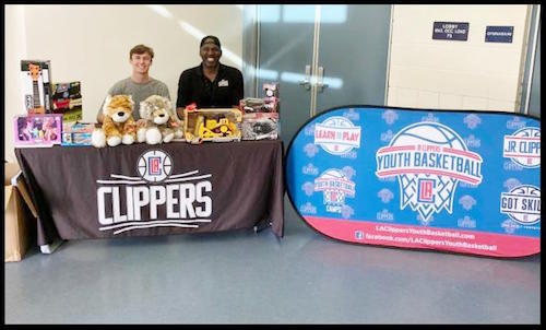 Community Services and LA Clippers Partnered for Clinic and Toy Drive