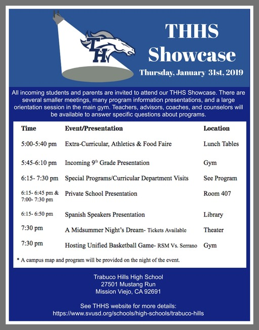 Trabuco Hills Showcase