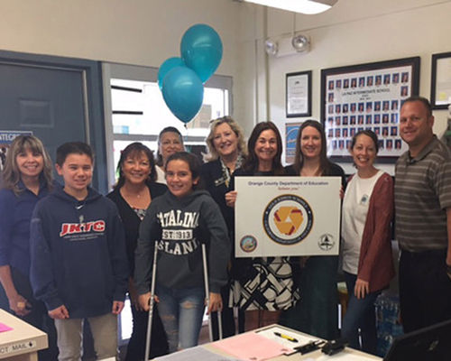 La Paz Intermediate Receives California Gold Ribbon Honors