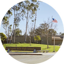 Laguna Hills High School front of school