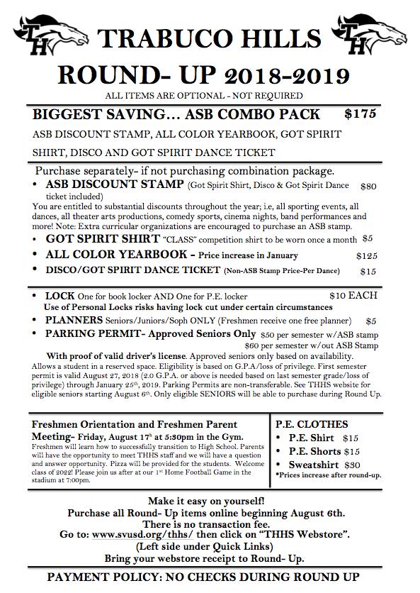 Round Up Freshman Orientation Saddleback Valley