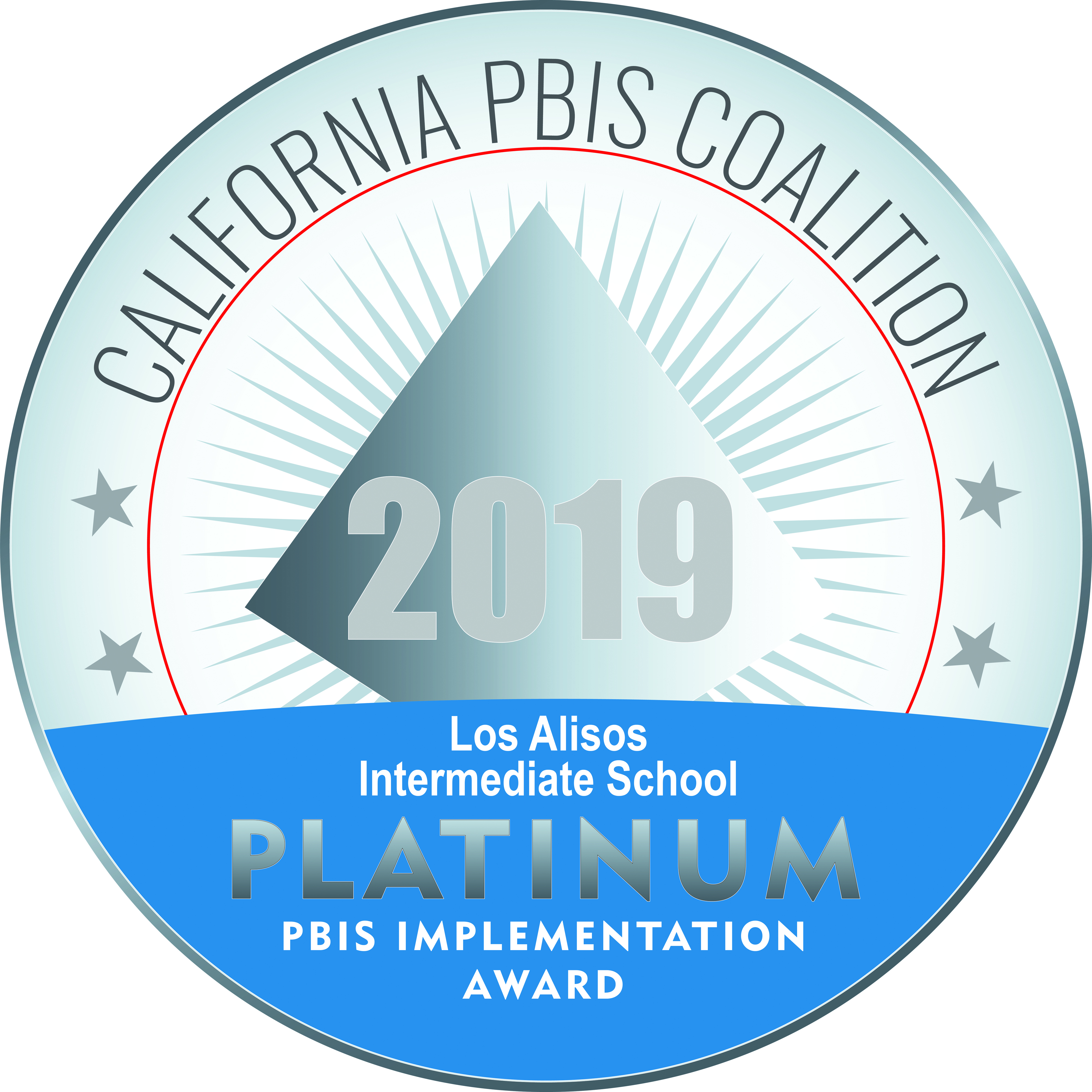 Platinum award recognizing Los Alisos for 2019