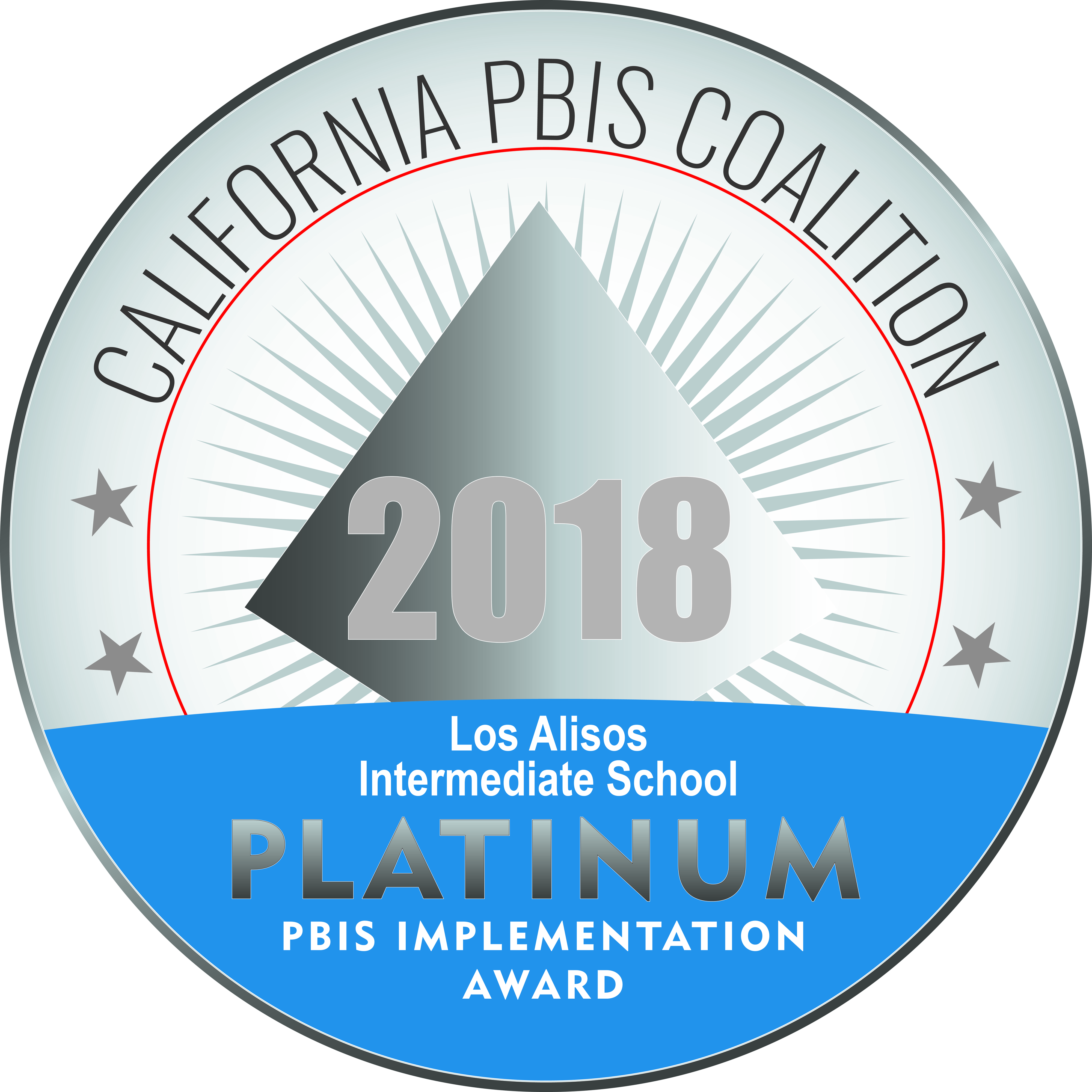 Platinum seal indicating PBIS Implementation Award
