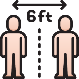 6ft Distance Icon
