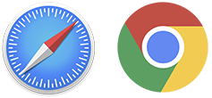 Safari Logo, Google Chrome Logo