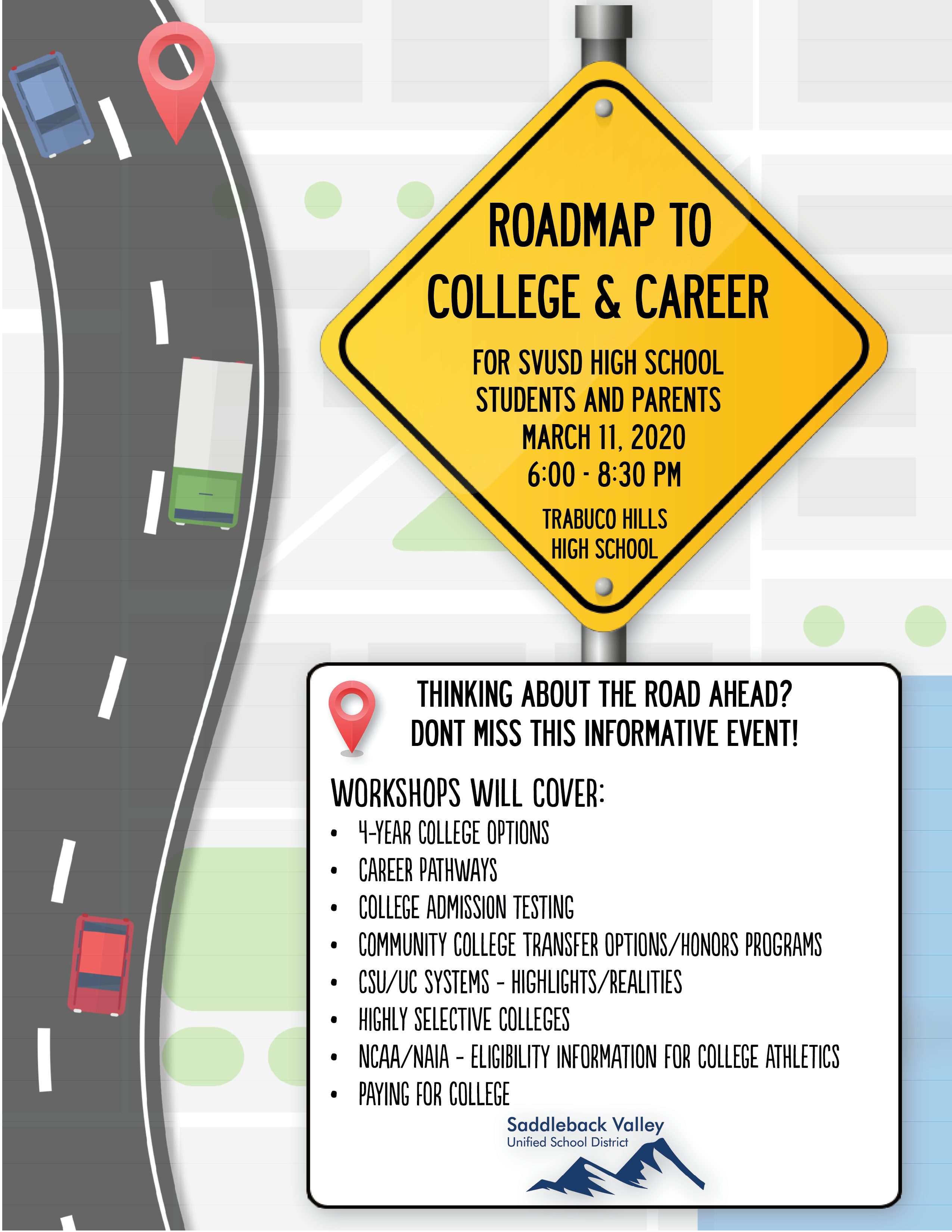 Roadmap to College and Career Flyer